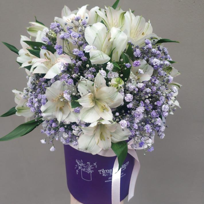 Букет Альстромерий в фиолетовом