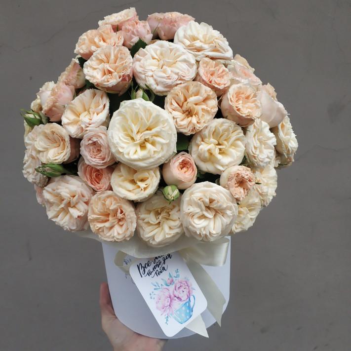 Коробка кустовых роз Gentle