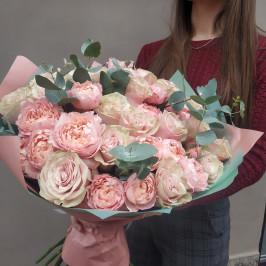Букет Пудровых роз