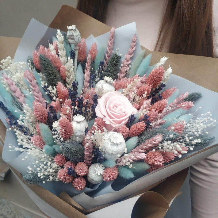 Коробка с сухоцветами №3