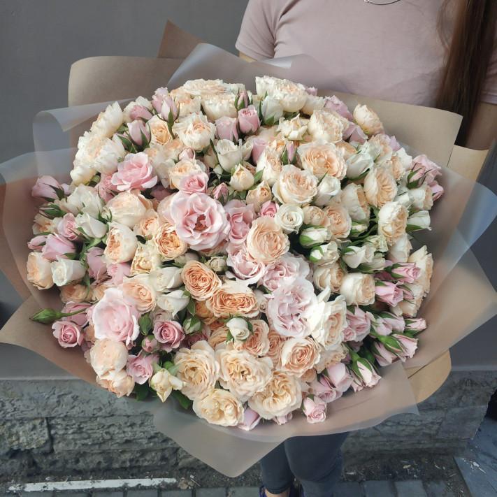 Микс 55 кустовых роз