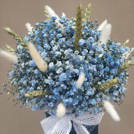 Букет Синяя гипсофила