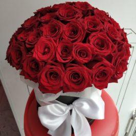 Букет 51 роза в коробке