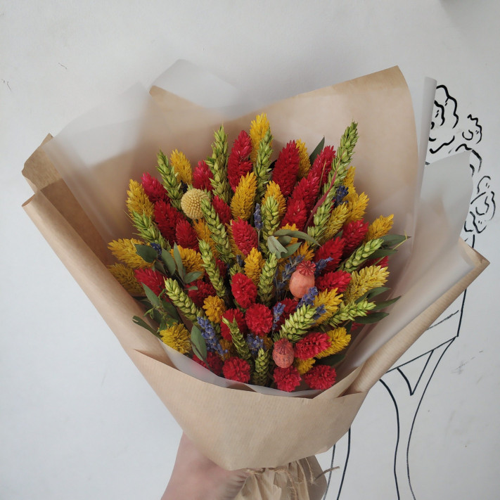 Букет из сухоцветов №96