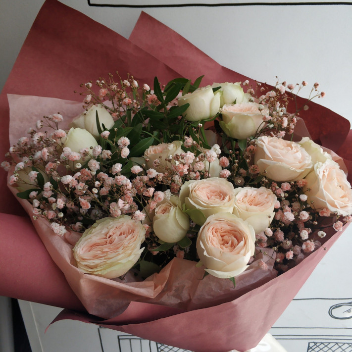 Букет Apricot roses